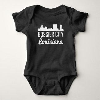 Bossier City Louisiana Skyline Baby Bodysuit
