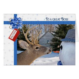 Boss's Christmas Card