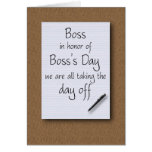 Boss's Day from employees