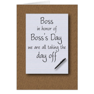 Boss's Day from employees Cards