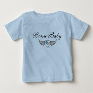 Bossy Baby Jersey T-Shirt Blue
