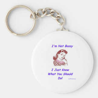 Bossy Basic Round Button Key Ring