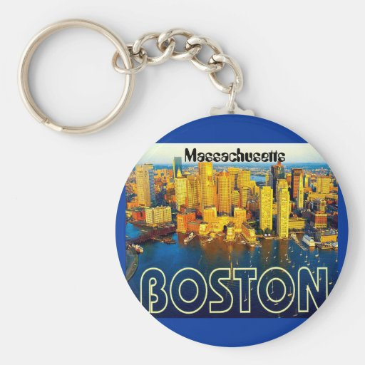 boston 2, Massachusetts Key Chains