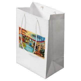 Boston #2 Massachusetts MA Vintage Travel Souvenir Medium Gift Bag