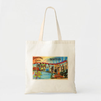 Boston #2 Massachusetts MA Vintage Travel Souvenir Tote Bag