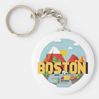 Boston As A Destination Key Ring