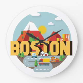 Boston As A Destination Large Clock