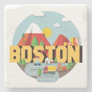 Boston As A Destination Stone Coaster