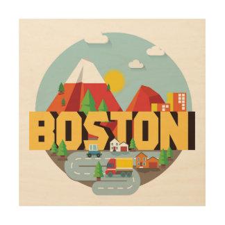 Boston As A Destination Wood Wall Art