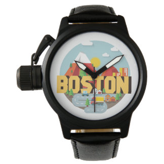 Boston As A Destination Wrist Watch