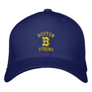 Boston B Strong Embroidered Baseball Cap