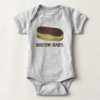 BOSTON BABY Boston Cream Pie Eclair Foodie Pastry Baby Bodysuit