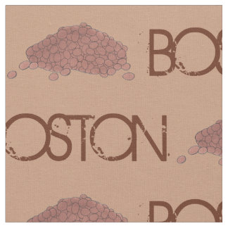 Boston Baked Beans MA Massachusetts Foodie Print Fabric