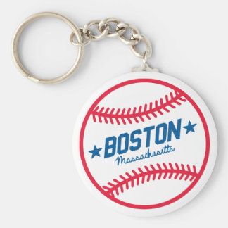 Boston Baseball Key Ring