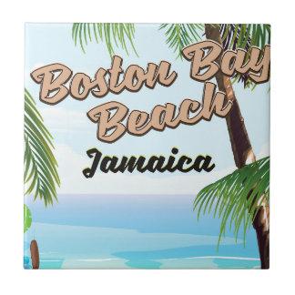 Boston bay beach, Jamaica Ceramic Tile