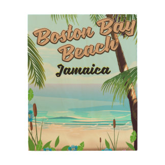 Boston bay beach, Jamaica Wood Print