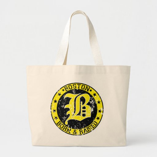 Boston born raised yellow bags