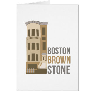 Boston Brownstone Card