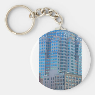 BOSTON Buildings Towers Architecture Basic Round Button Key Ring