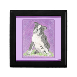 Boston Bull Terrier Jewelry Boc Gift Box