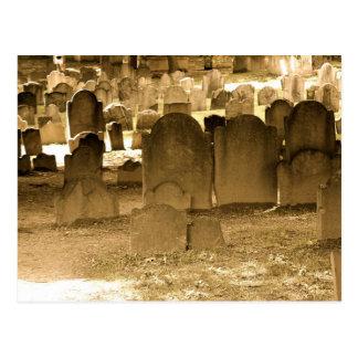 Boston Cemetery Postcard