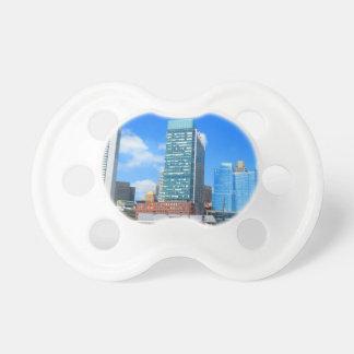 Boston City Buildings n Urban Landscape Baby Pacifier