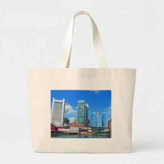 Boston City Buildings n Urban Landscape Jumbo Tote Bag