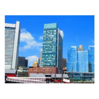 Boston City Buildings n Urban Landscape Postcard