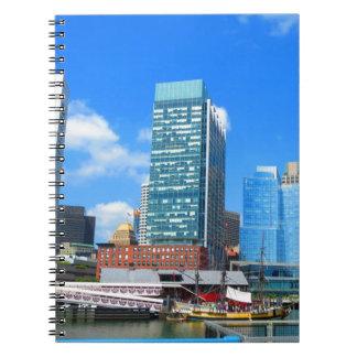 Boston City Buildings n Urban Landscape Spiral Note Books