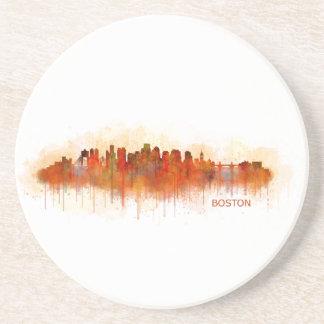 Boston City Massachusetts skyline v3 Coaster