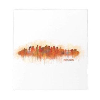 Boston City Massachusetts skyline v3 Notepad