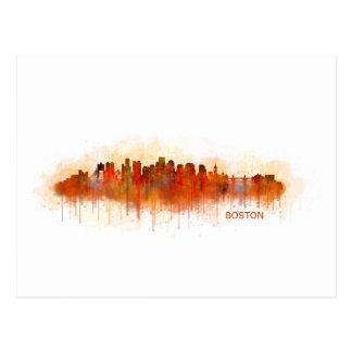 Boston City Massachusetts skyline v3 Postcard