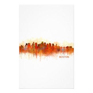 Boston City Massachusetts skyline v3 Stationery