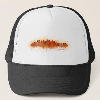 Boston City Massachusetts skyline v3 Trucker Hat