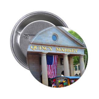 BOSTON City QUENCY Market Bus Tour views 6 Cm Round Badge