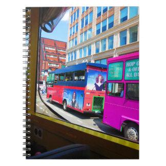 Boston City USA America Bus Tour City Views Spiral Note Book