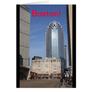 Boston Cityscape Card