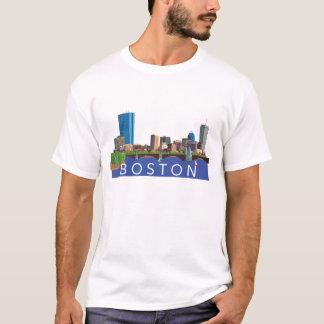 Boston Cityscape Skyline Computer Illustration T-Shirt