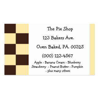Boston Creme Pie Colors Business Card Templates