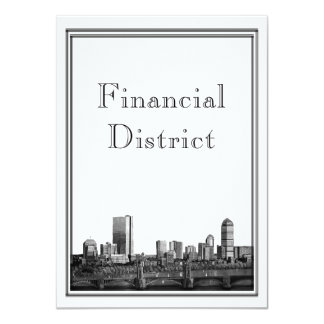Boston Destination Wedding Financial District Card