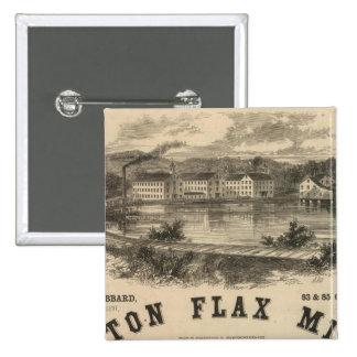 Boston Flax Mills 15 Cm Square Badge