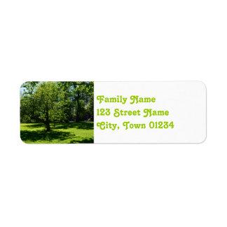 Boston Garden Return Address Label