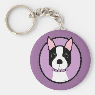 Boston Girl! Purple Key Ring