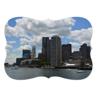 Boston Harbor 13 Cm X 18 Cm Invitation Card