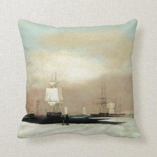 Boston Harbor 1835 Throw Pillow