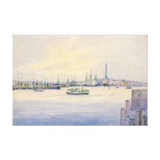 Boston Harbor 1846 Gallery Wrapped Canvas