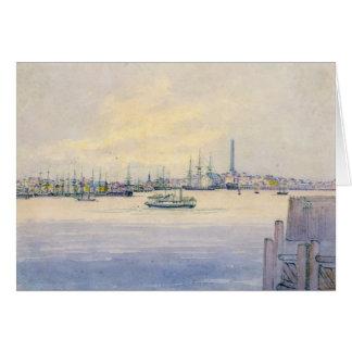 Boston Harbor 1846 Greeting Card
