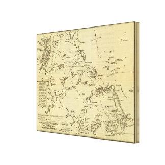 Boston Harbor 2 Stretched Canvas Print