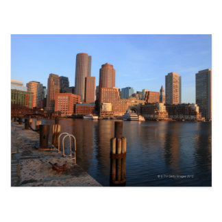 Boston Harbor and skyline.  Boston is one of the 3 Postcard