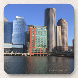 Boston Harbor and skyline Boston is one of the 4 Drink Coasters